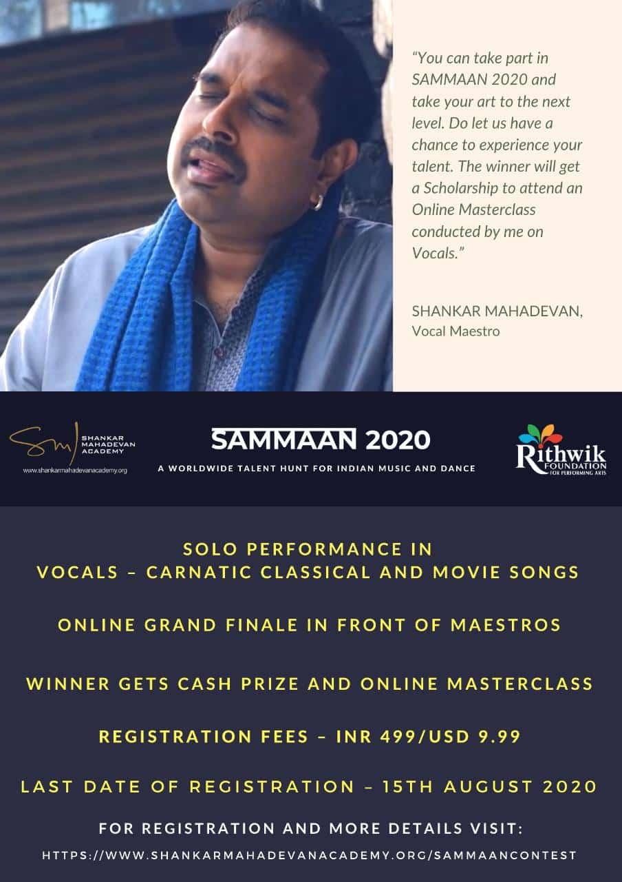 Sammaan Poster Shankar Mahadevan